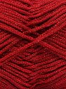 Width is 2-3 mm Fiber Content 100% Polyester, Red, Brand Ice Yarns, fnt2-67489