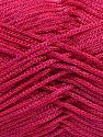 Width is 2-3 mm Fiber Content 100% Polyester, Brand Ice Yarns, Fuchsia, fnt2-67490
