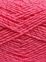 Gauge is 22 stitches and 30 rows on 10 cm x 10 cm (4&amp x 4&amp). Fiber Content 97% Acrylic, 3% Metallic Lurex, Pink, Brand Ice Yarns, fnt2-67615