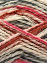 Fiber Content 70% Acrylic, 30% Wool, Brand Ice Yarns, Fuchsia, Dark Grey, Cream, Copper, fnt2-67624