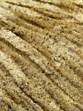 Fiber Content 95% Polyester, 5% Metallic Lurex, Brand Ice Yarns, Gold, Dark Cream, fnt2-67660