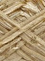 Fiber Content 85% Polyester, 15% Metallic Lurex, Brand Ice Yarns, Gold, Dark Cream, fnt2-67663