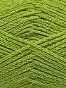 Περιεχόμενο ίνας 88% Βαμβάκι, 12% Μεταλλικό lurex, Pistachio Green, Brand Ice Yarns, fnt2-67841
