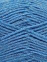 Περιεχόμενο ίνας 88% Βαμβάκι, 12% Μεταλλικό lurex, Light Blue, Brand Ice Yarns, fnt2-67843