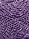 Περιεχόμενο ίνας 88% Βαμβάκι, 12% Μεταλλικό lurex, Lilac, Brand Ice Yarns, fnt2-67844