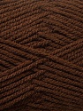 Worsted  Fiber Content 100% Acrylic, Brand Ice Yarns, Brown, Yarn Thickness 4 Medium  Worsted, Afghan, Aran, fnt2-24503