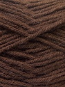 Contenido de fibra 70% Dralon, 30% Alpaca, Brand Ice Yarns, Dark Brown, Yarn Thickness 4 Medium  Worsted, Afghan, Aran, fnt2-25376