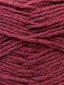 Contenido de fibra 70% Dralon, 30% Alpaca, Brand Ice Yarns, Burgundy, Yarn Thickness 4 Medium  Worsted, Afghan, Aran, fnt2-25668