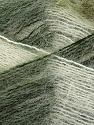 Fiber Content 70% Mohair, 30% Acrylic, White, Brand Ice Yarns, Green Shades, Yarn Thickness 3 Light  DK, Light, Worsted, fnt2-35066
