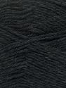 Fiberinnehåll 100% NY ULL, Brand Ice Yarns, Anthracite Black, Yarn Thickness 3 Light  DK, Light, Worsted, fnt2-42304