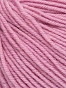 SUPERWASH MERINO is a worsted weight 100% superwash merino yarn available in 47 beautiful colors. Marvelous hand, perfect stitch definition, and a soft-but-sturdy finished fabric. Projects knit and crocheted in SUPERWASH MERINO are machine washable! Lay flat to dry. Fiber Content 100% Superwash Merino Wool, Light Pink, Brand Ice Yarns, Yarn Thickness 4 Medium  Worsted, Afghan, Aran, fnt2-42484